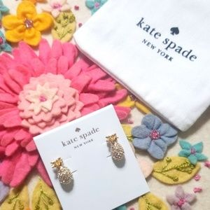 《Kate Spade》NEW By the Pool Pave Pineapple Earring